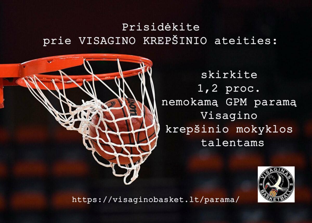 1,2 GPM rėmimas Visagino krepšinio mokykla