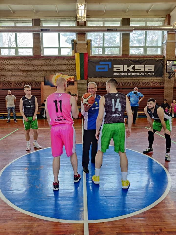 V.Bukauskas atidaro Visagino krepšinio pirmenybės